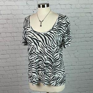 Z Supply NWT XL Zebra Print Tee Shirt